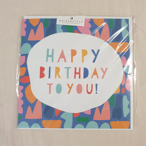 Kaiser Style Sunshine Happy Birthday To You Shapes Card