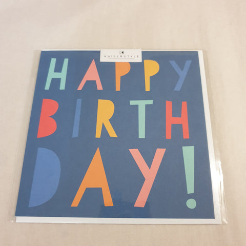 KaiserStyle Sunshine Happy Birthday Card Navy