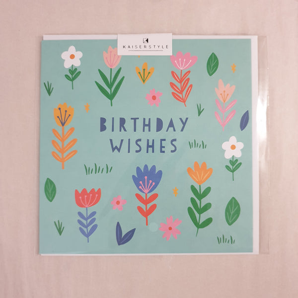 KaiserStyle Sunshine Birthday Wishes Floral Card