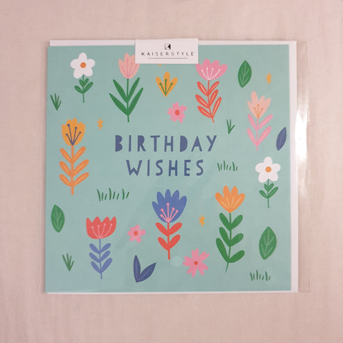 Kaiser Style Sunshine Birthday Wishes Floral Card