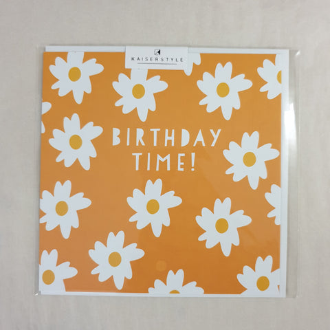 KaiserStyle Sunshine Birthday Time Daisy Card