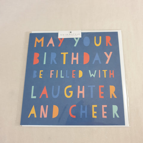Kaiser Style Sunshine Laughter and Cheer Card