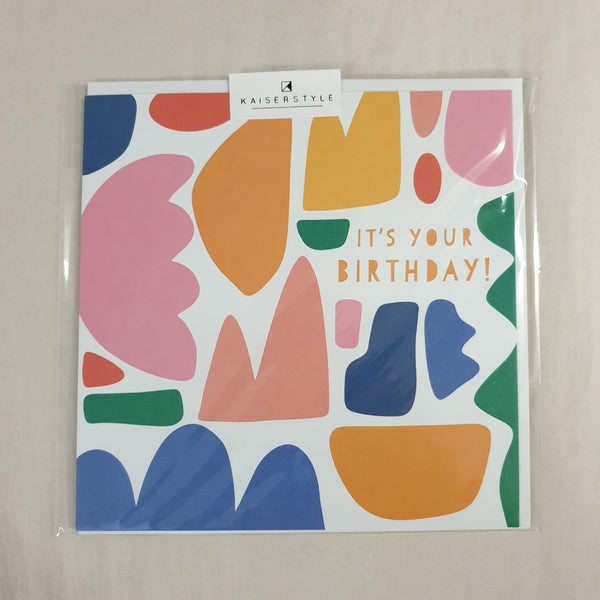 KaiserStyle Sunshine It's Your Birthday Shapes Card