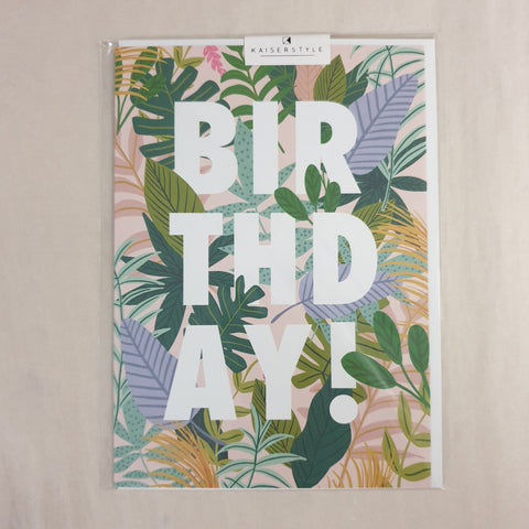 Kaiser Style Wild Birthday! Foliage Card