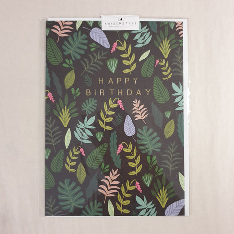 KaiserStyle Wild Happy Birthday Foliage Card
