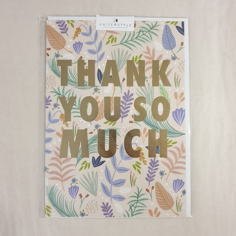 KaiserStyle Wild Thank You So Much Card