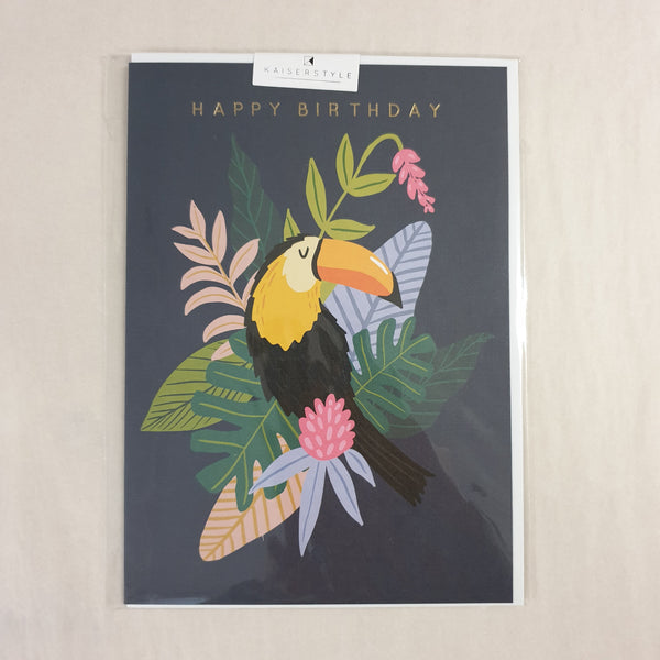 KaiserStyle Wild Happy Birthday Toucan Card