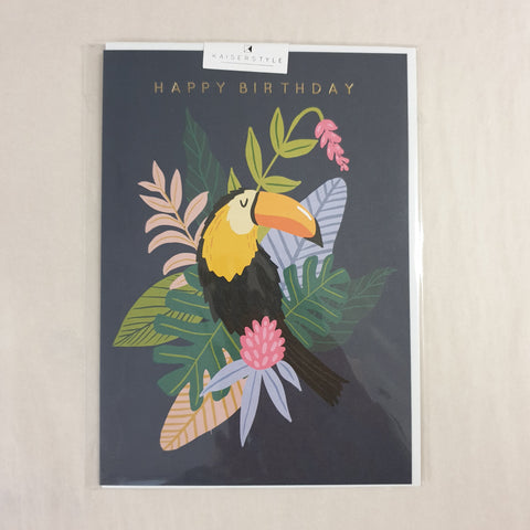 Kaiser Style Wild Happy Birthday Toucan Card