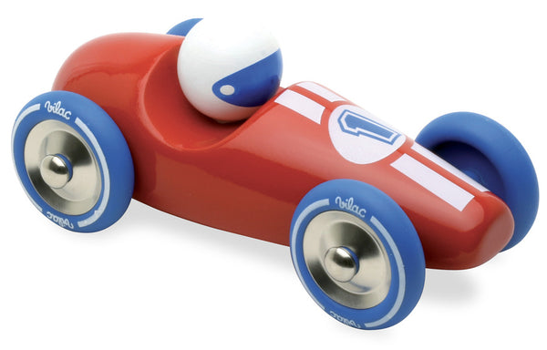 Vilac Large Red Wooden Race Car