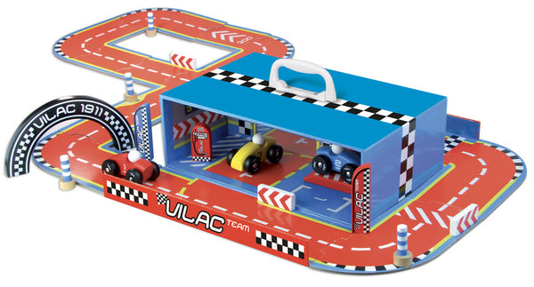 Vilac Race track Set in Suitcase