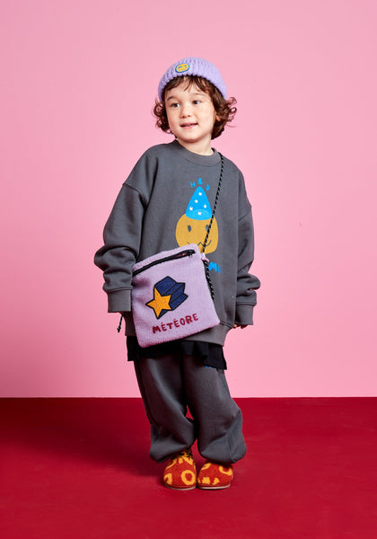 Jelly Mallow Birthday Sweatshirt Set Charcoal