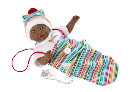 Llorens Crying Baby Doll with Dummy - Cuqui.