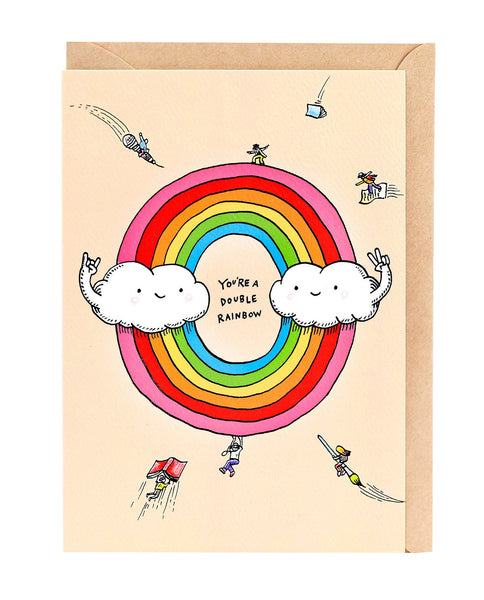 Wally Paper Co: Double Rainbow Card