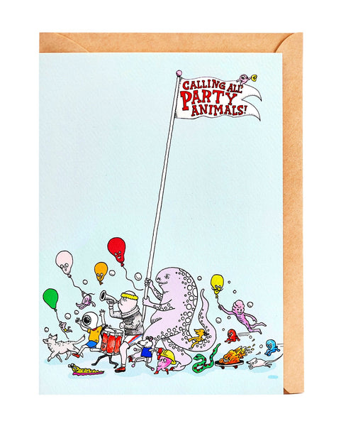 Wally Paper Co: Party Animal Card