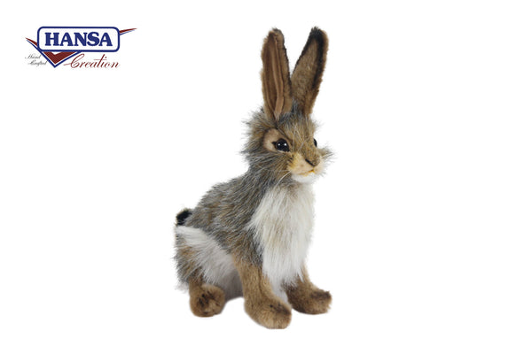 Hansa Black Tailed Rabbit 23cm