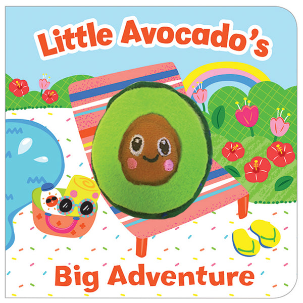 Little Avocado's Big Adventure Finger Puppet Board Book