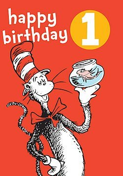 Hype Dr Seuss 1 Birthday Badge Card