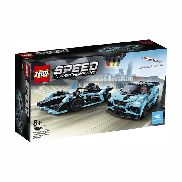 Lego Speed Formula E Panasonic Jaguar Racing  GEN2 car & Jaguar I-PACE eTROPHY