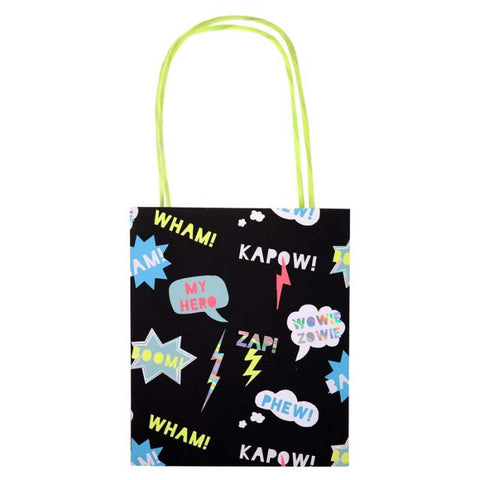 Meri Meri Wham Kapow Superhero Party Bag (8 Set)