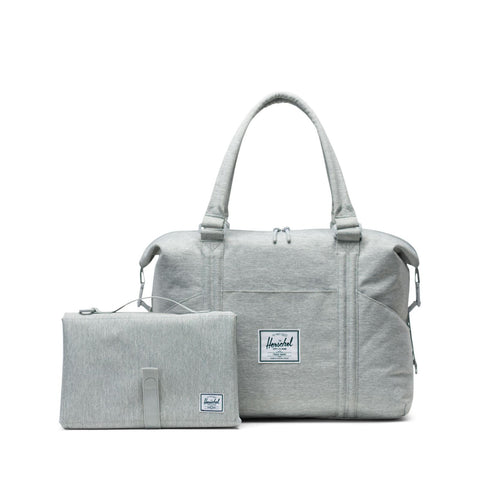 Herschel Strand Tote Nappy Bag / Sprout Change Light Grey Crosshatch