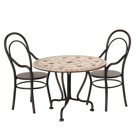 Maileg Dining Table Set with Two Chairs