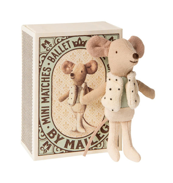 Maileg Mouse Dancer in a Box Little Brother