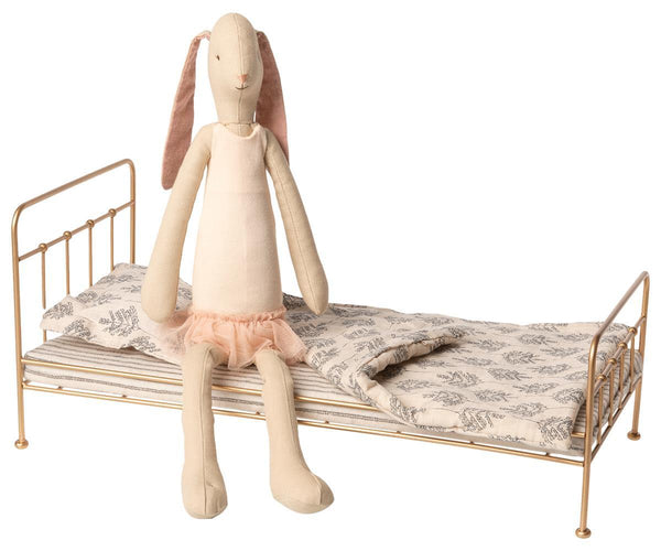Maileg Bunny Ballerina and Gold Bed Medium