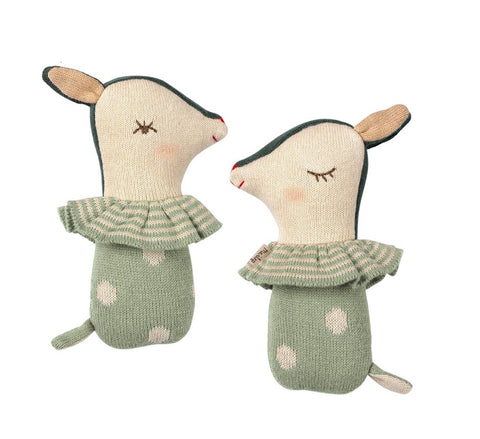 Maileg Bambi Rattle Dusty Mint