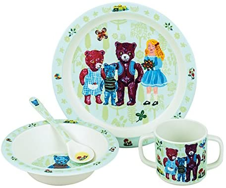 Nathalie Lete Goldilocks and the 3 bears Melamine Set **PLEASE READ DESCRIPTION **