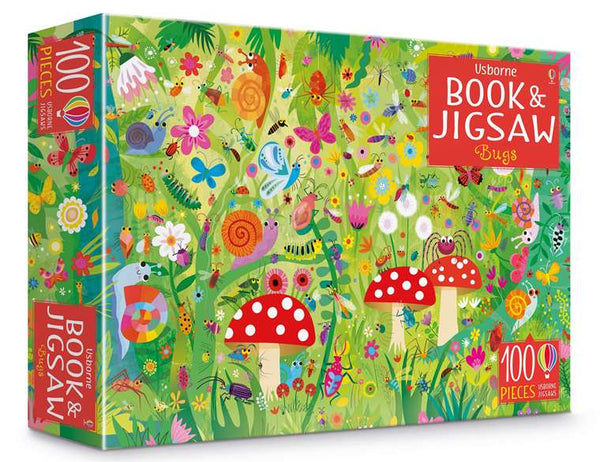 Usborne Book and JIgsaw Puzzle - Bugs