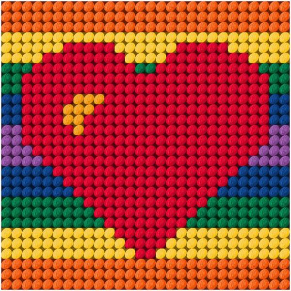 Beutron Cross Stitch Kit - Heart