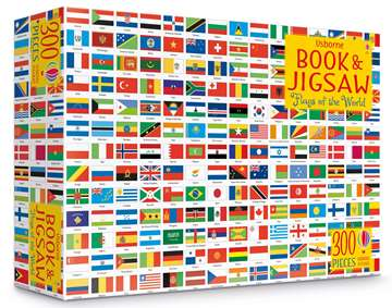 Usborne Book and JIgsaw Puzzle - Flags of the World