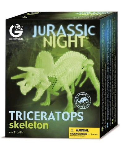 Jurassic Night Glow in the Dark Triceratops
