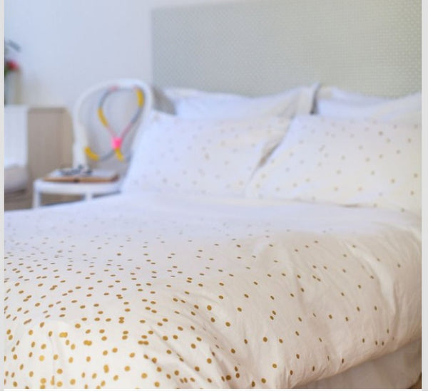 Feliz Single Doona and Pillow Gold Sprinkle