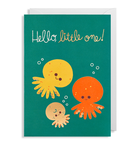 Lagom Design Hello Little Octopus One Card
