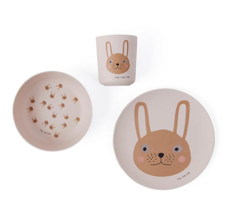 Maileg Rabbit Bamboo Dinner Set