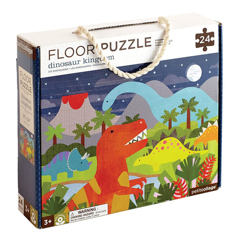 Petit Collage Floor Puzzle - Dinosaur Kingdom