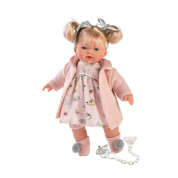 Llorens Aitana Doll 33110 - Crying Doll with Dummy