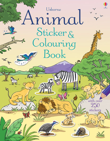 Usborne Animal Sticker and Colouring book