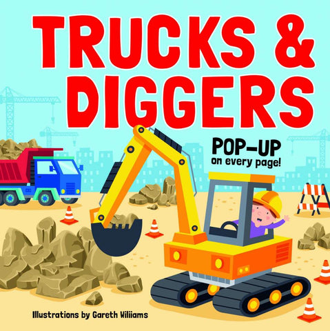 Trucks and Diggers Pop Up Book