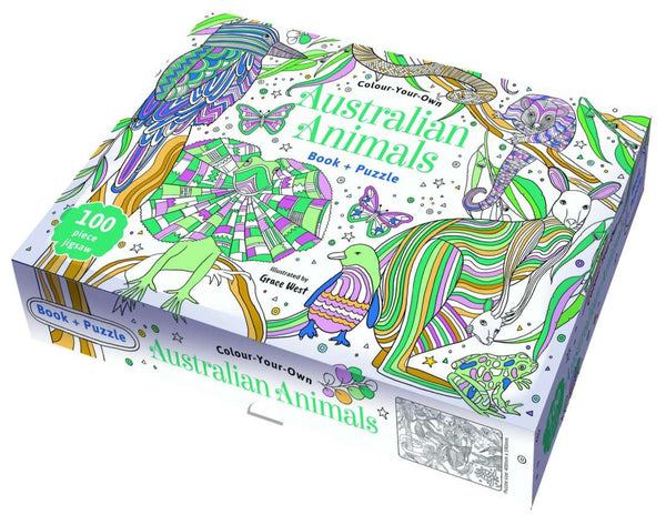 Colour your own Australian Animals Book and Puzzle
