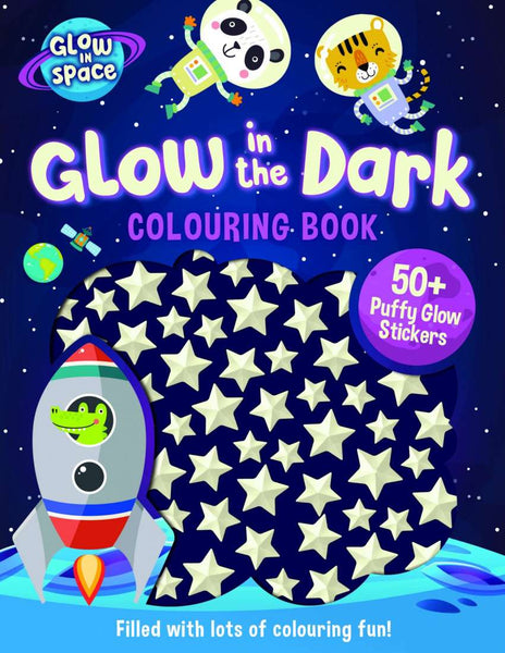 Glow in the Dark Colouring Book with Puffy Stickers