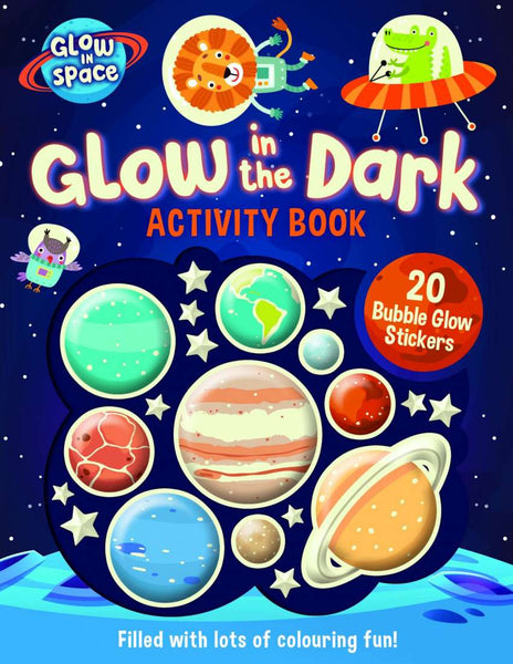 Glow in the Dark Activity Book with Bubble Glow Stickers