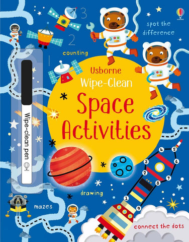 Usborne Wipe Clean Activity Book - Space