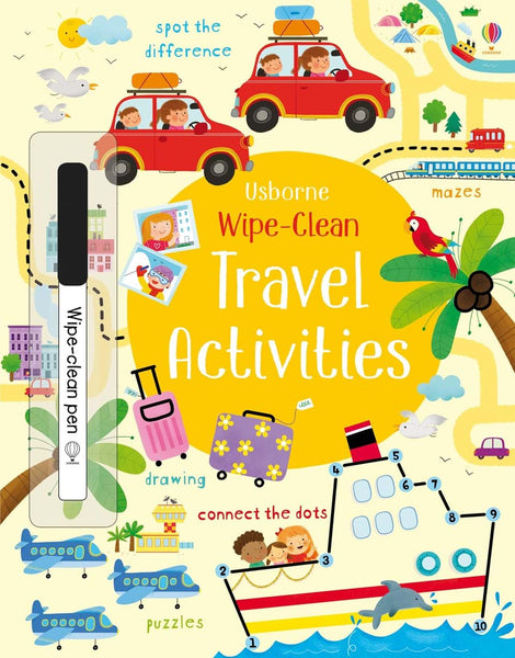 Usborne Wipe Clean Activity Book - Travel Activities