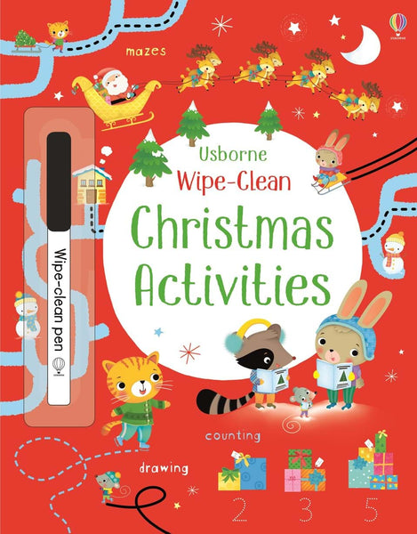Usborne Wipe Clean Activity Book - Christmas