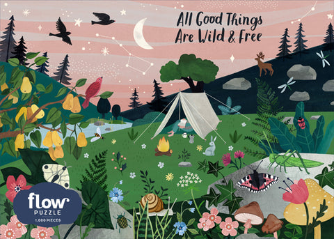 Flow All Good Things are Wild and Free 1000 Piece Jigsaw Puzzle