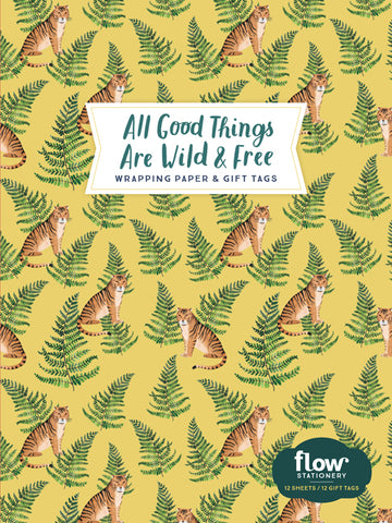 Flow Paper All Good Things are Wild and Free Wrapping Paper and Gift Tags