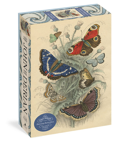 John Derian Dancing Butterfiles 750 Piece Jigsaw Puzzle by Artisan Puzzles