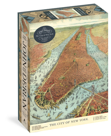 John Derian The City of New York 750 Piece Jigsaw Puzzle by Artisan Puzzles